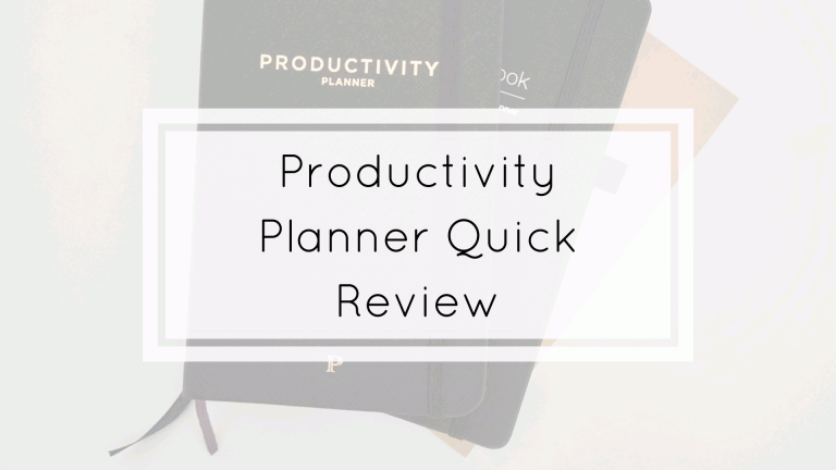 productivity planner quick review